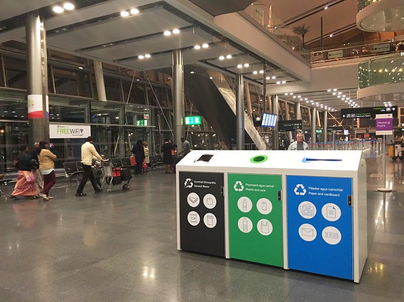 Installation of CleanCAP fill-level bins increased waste collection efficiency by 90% at Dublin Airport